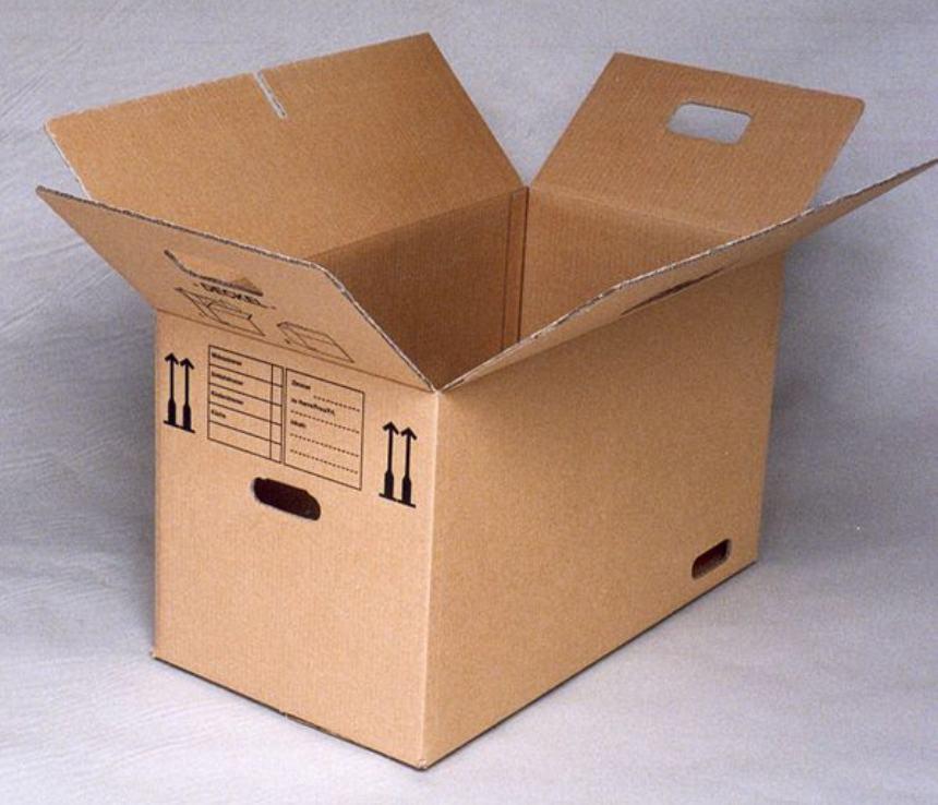 Le scatole per il trasloco in ufficio