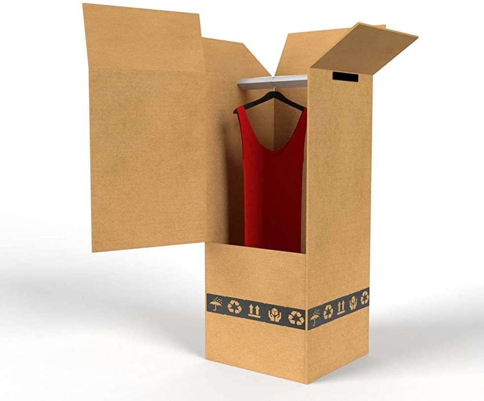 Scatole da trasloco per abiti